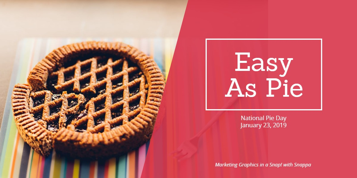 Marketing graphics as easy as pie!